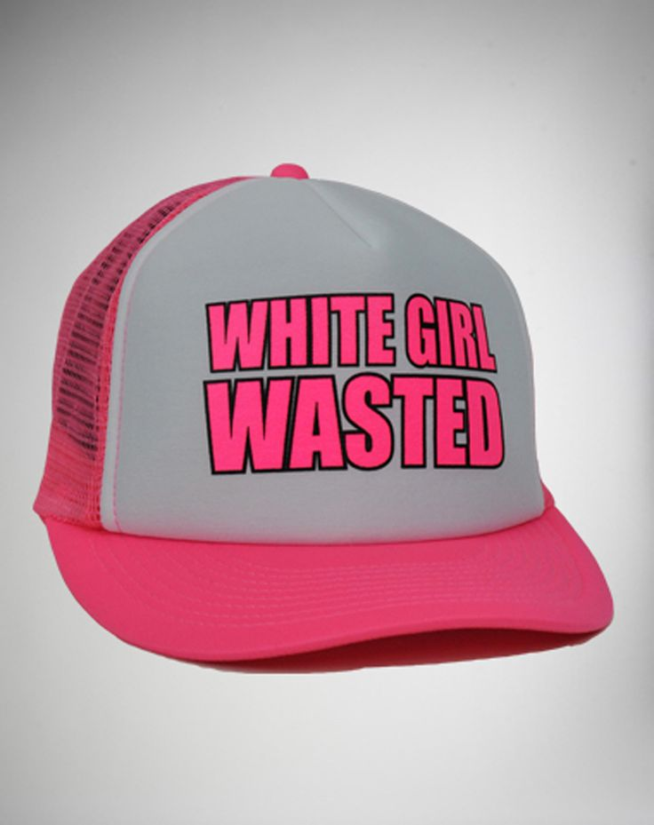 Party points to ME! I just found the 'White Girl Wasted' Trucker Hat from Spencer's. Visit their mobile website to get this item and more like it.