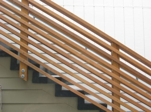 Modern Wood Stair Railing | The New Relocated Stair And Railing