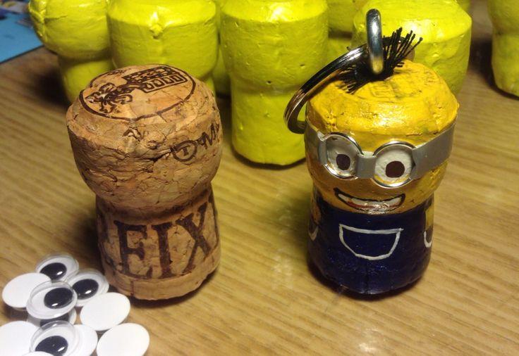 Minion cork craft