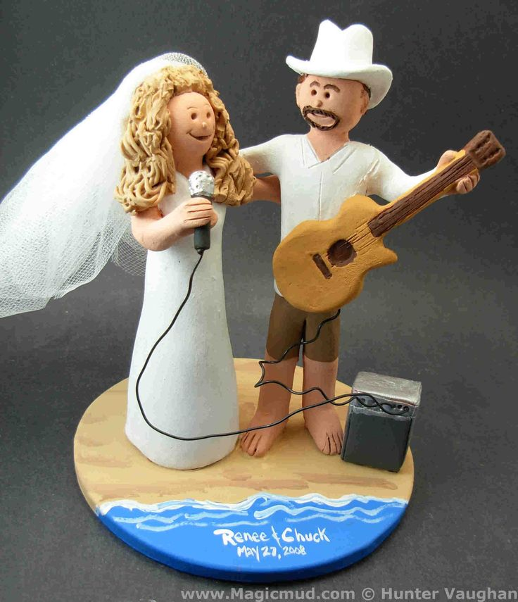 Acoustic Guitar Wedding Cake Topper by www.magicmud.com 1 800 231 9814 mailto:magicmud@m... blog.magicmud.com twitter.com/... www.facebook.com/... #beach#beach_destination#surf#ocean#destination#hawaii#caribbean#mexico#wedding #cake #toppers #custom #personalized #Groom #bride #anniversary #birthday#weddingcaketoppers#cake toppers#figurine#gift#wedding cake toppers