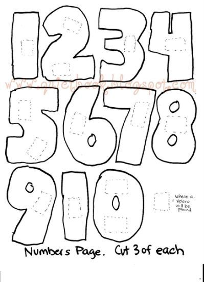 Printable Bubble Numbers 1 10 images Fonts Quiet book templates
