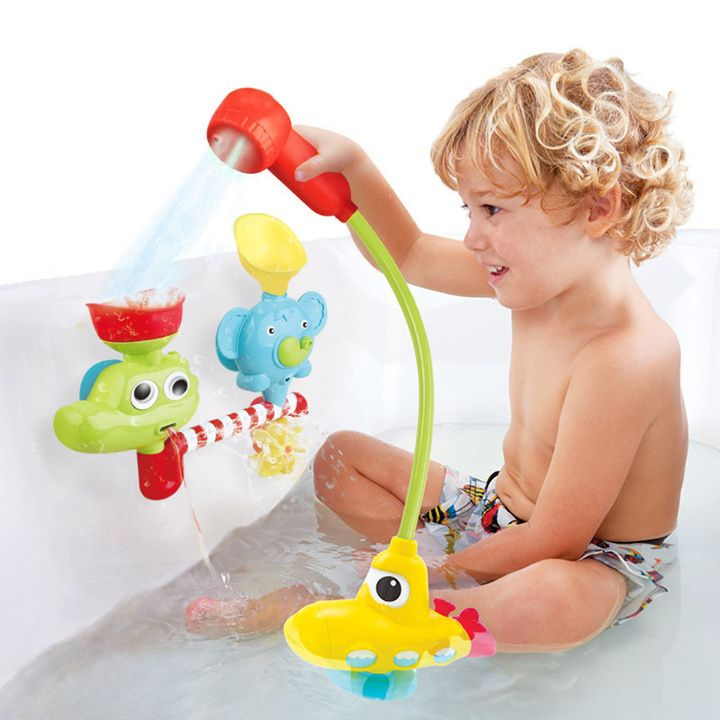 1 Piece Electronic Fountain Baby Bath Toys submarine Electric pump Baby toys water faucet Bathroom Children Toys baby gift