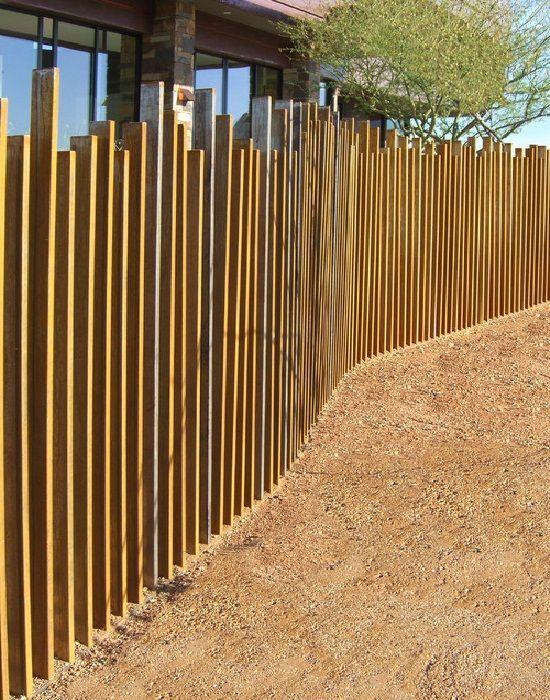 Metal Fencing Ideas Yard Fence Ideas 187 Cool Corten