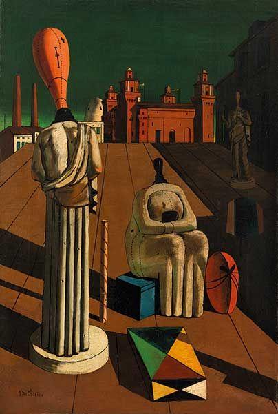 Giorgio de Chirico Le Muse inquietanti, 1918 Olio su tela, cm 97 x 66 Collezione privata - Opera in mostra