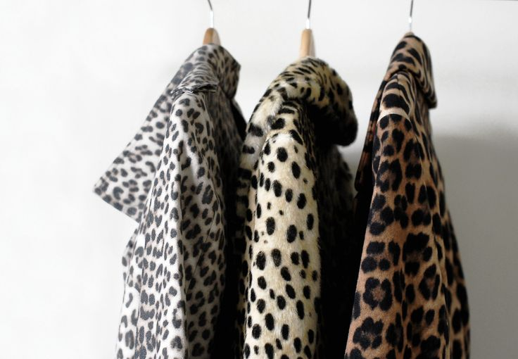 No such thing as too many leopard print coats.