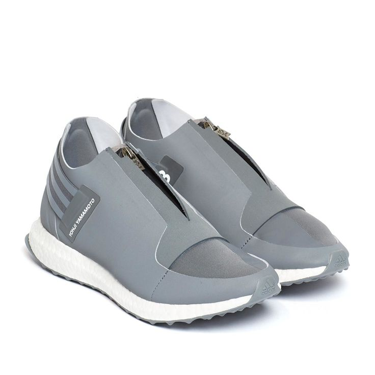 """Delivery by August 31 Xray Zip low sneakers from the F/W2016-17 Y-3 by Yohji Yamamoto collection in grey Launched in 2002, Y-3 is Yohji Yamamoto's clothing line made in collaboration with Adidas: the """"Y"""" represents the Japanese designer while is for the three unmistakable stripe logo of the sports brand. Yamamoto's visions and innovations join Adidas' technologies, for a cherished cutting edge final product. These Xray zip low sneakers are from Y-3 new collection, Yohji Yamamoto's clothing…"""