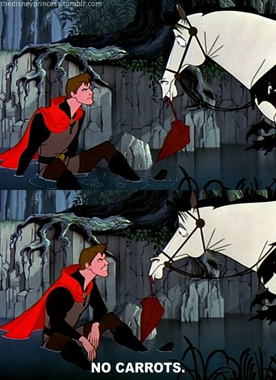 Prince Phillip and Samson  LOVE love love the horse in Sleeping Beauty, some of the funniest moments in the movie