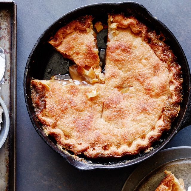 Skillet Apple Pie with Cinnamon Whipped Cream By Trisha Yearwood