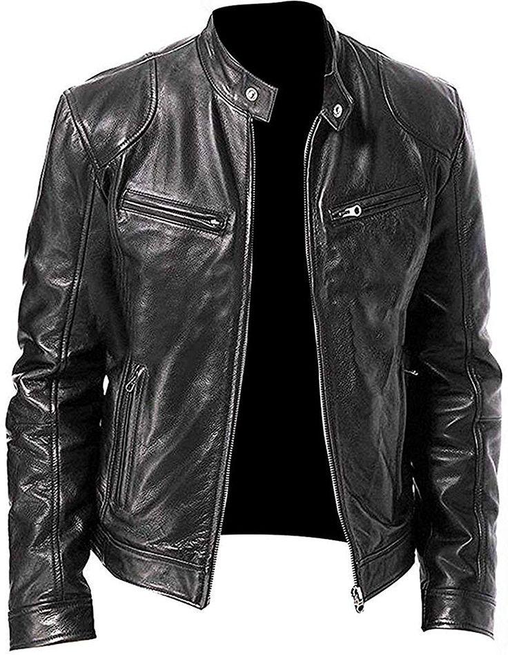Vintage Cafe Racer Retro Biker Unisex Genuine Leather