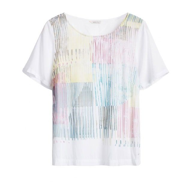 Sandwich Clothing Abstract Pattern Top White