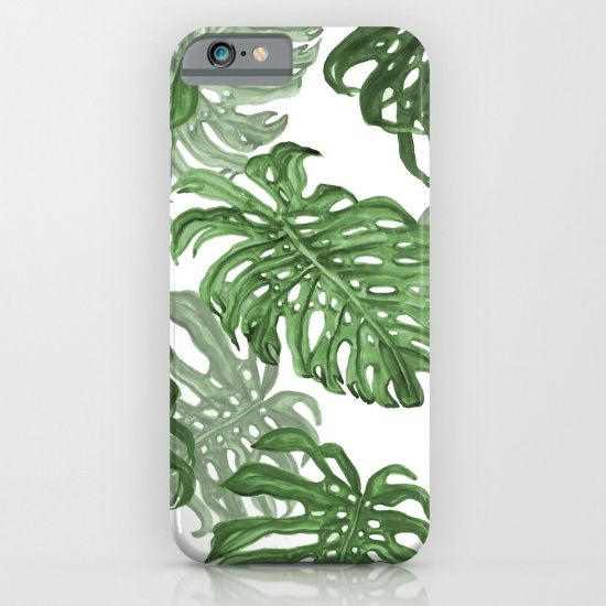 monstera deliciosa iphone ipod case