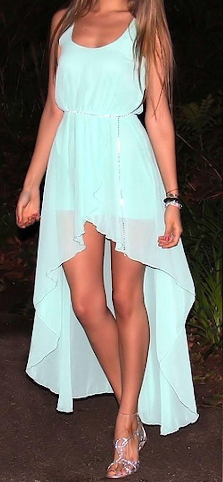 Mint Swallowtail Chiffon Dress ♥