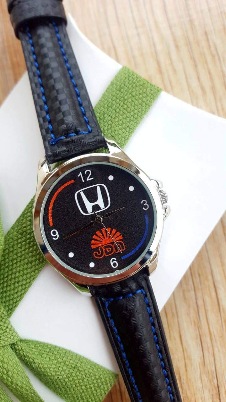 Minimalist Black Honda JDM Watch with Black Carbon Racing Strap, Handmade Mens Watch, Motorsport Watch, Exclusive Watch, Boyfriend Gift by IrishFashionWatches on Etsy