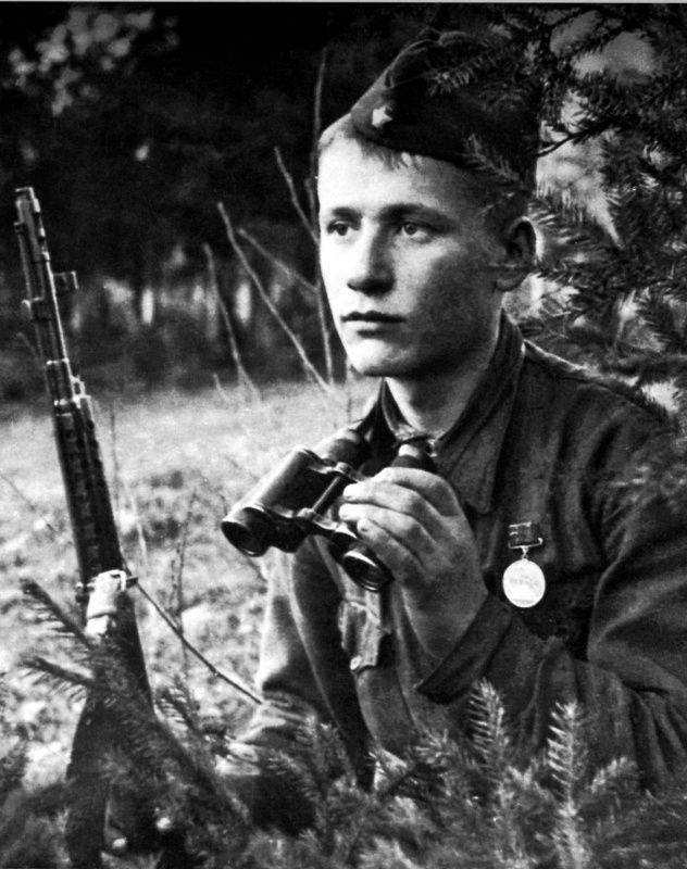 Soviet soldier Alexey, he died near Pogostye village in 1942. The photo was taken by the 311th Rifle Division photo reporter D.F. Onokhin.