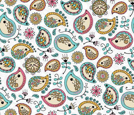 Hedgehog Paisley - Colors