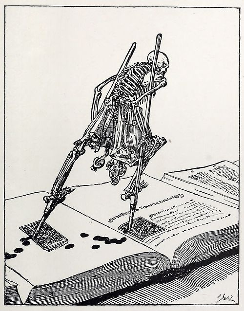 from The Dance of Death by Joseph Sattler, reprinted in Modern Illustration by Joseph Pennell (1895)