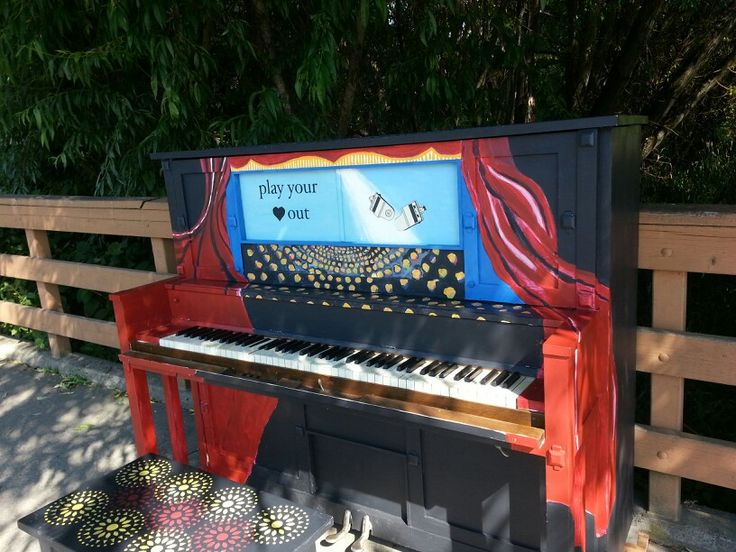 Community piano on Salt Spring Island