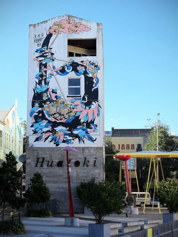 Knarf x Eno New Murals In New Plymouth, New Zealand StreetArtNews