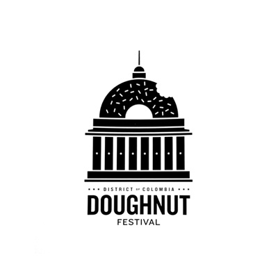 #houseofbranding | Doughnut Festival Logo by Mikey Burton