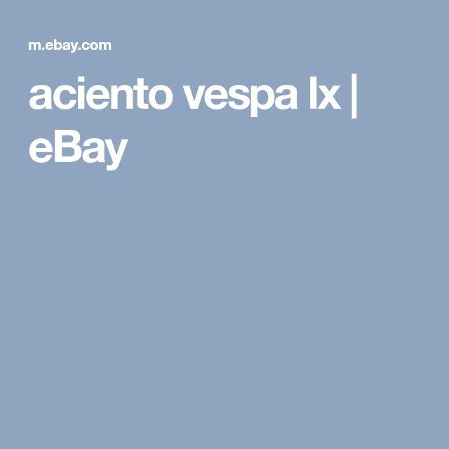 aciento vespa lx | eBay