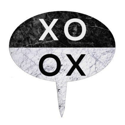 XO XO CAKE TOPPER - minimal gifts style template diy unique personalize design