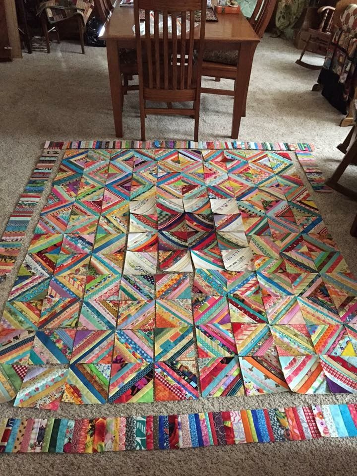 Scrappy Quilt Quilting Pinterest Quilts String Quilts And