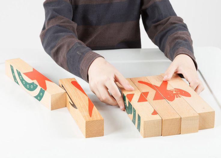 Four-Way Blocks, Fredun Shapur 1972, Creative Playthings