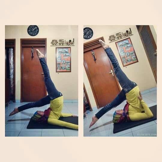 #Namaste #Shoulderstand #YogaPractice