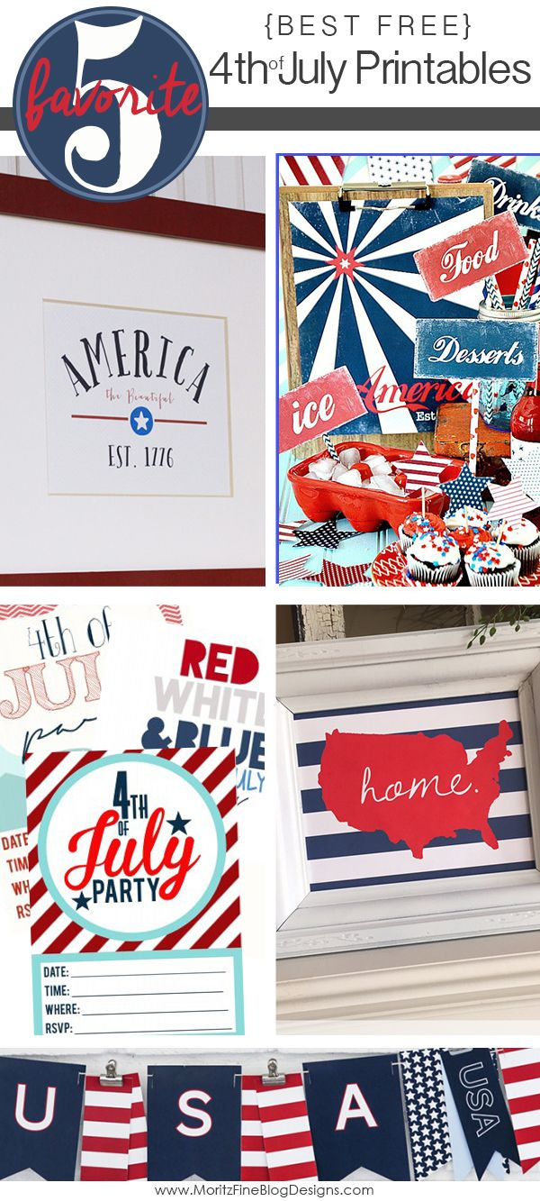 Spice up your home or your holiday gathering with these best free 4th of July Printables. Awesome and free party ideas.
