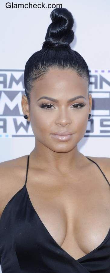 Top Knot Hairstyles Christina Milian