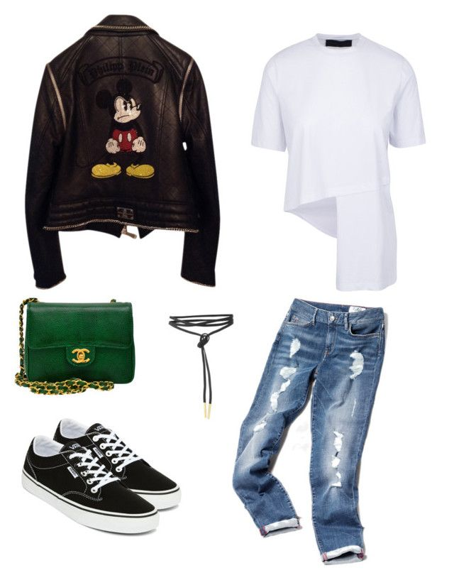 Mickey Style by anmari29 on Polyvore featuring polyvore, fashion, style, Philipp Plein, Vans, Chanel and clothing