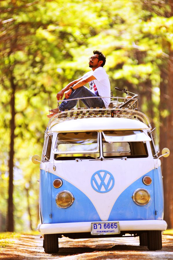 If refurbishing a bus doesn't work out, at least traverse the United States in an old Volkswagen Bug-Bus.