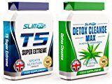 T5 FAT BURNERS x60 + DETOX CLEANSE x60 - T5 Super Extreme Max Strength Thermogenic Fat Burner and Colon Cleanse Detox Capsules - Slimming Diet Pills | Suppress Appetite, Boost Metabolism and Increase Energy for Weight Loss - https://www.trolleytrends.com/