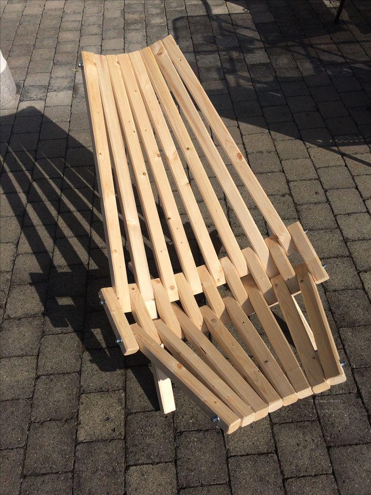 Deck Chair Made Of Roof Battens Battens Chair Palettenmobelimfreien Deck Chairs Roof Battens Pallet Chair
