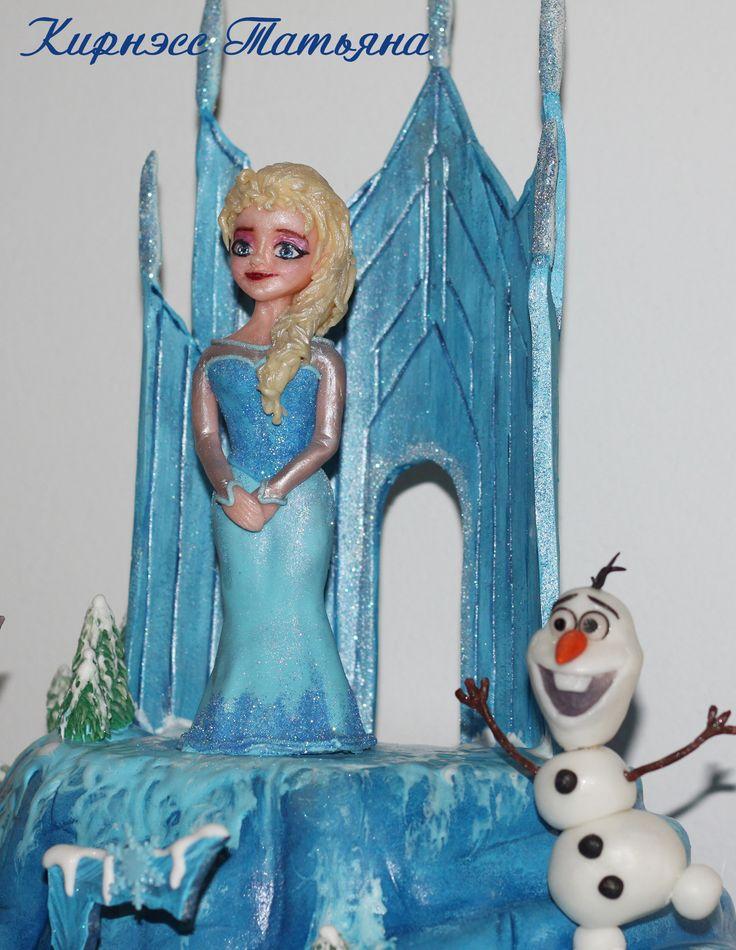 Frozen cake. Торт Холодное сердце