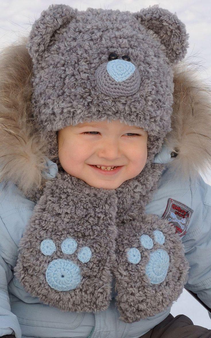 Kniting Teddy Bear Hat Hat Character Boy hat Teddy