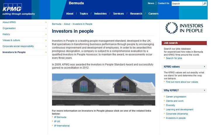 KPMG Bermuda - Investors in People