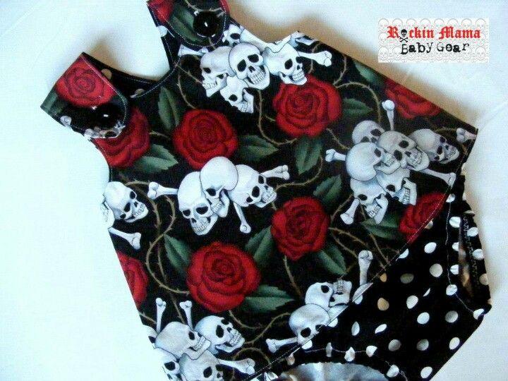 Rockabilly skull baby dress. Yes please!