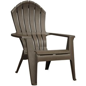 Adams Mfg Corp Earth Brown Resin Stackable Adirondack Chair - idea for front porch