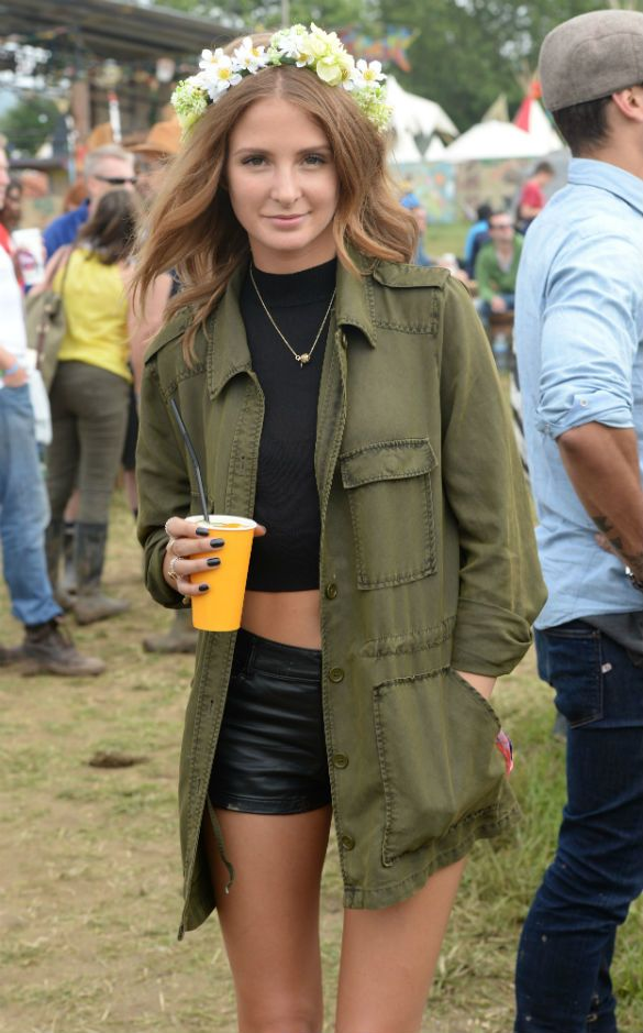 Come rain or shine - this Khaki trench worn by Millie from Made in Chelsea is perfect for Festival Weekends!
