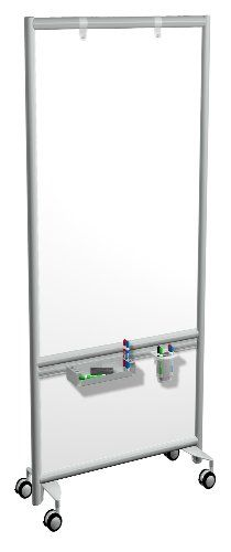 Moi Mobile Office Parion With Accessory Rail Whiteboard 30 Inch Wide X 72 High Mp3s3072 Http Www Dp B00e3rhp1i Ref Cm