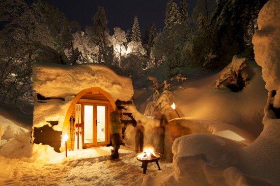 Eco PodHotel - Bungalows en la nieve... :O....