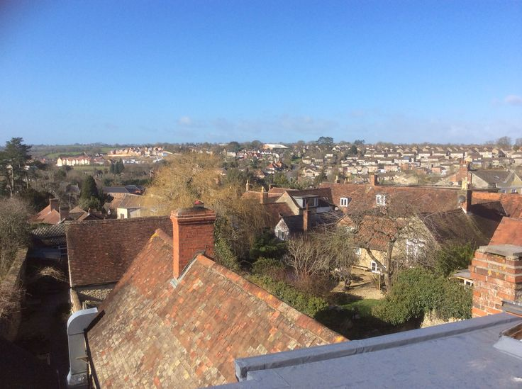 View from our roof across beautiful Wincanton