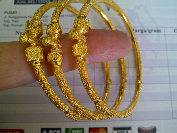 22k India / Dubai Gold Bangles set | 22k & 24k Gold ...