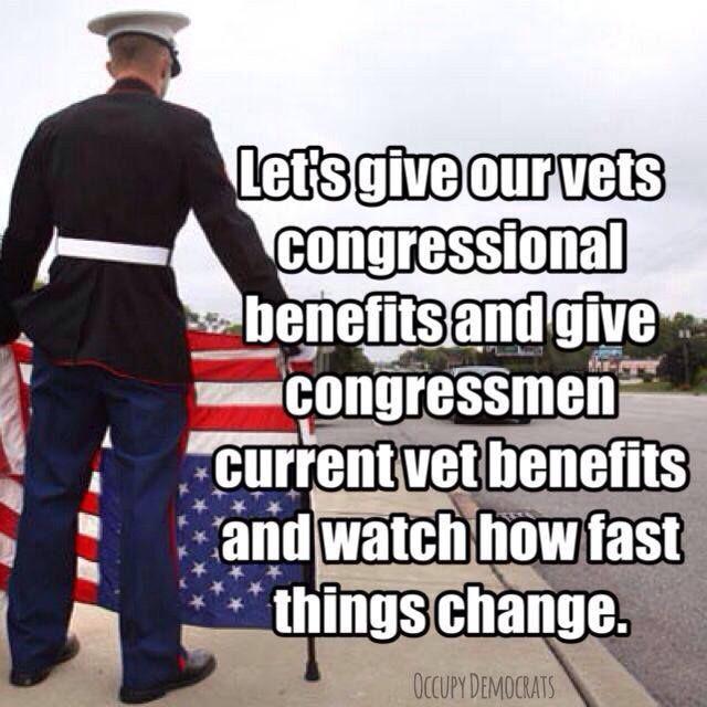 It's shameful how long vets have to wait for health care. Shameful.