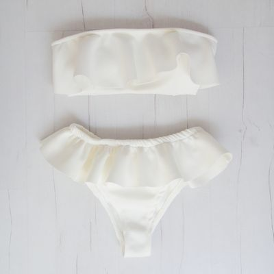 Brazilian Beachwear - Giraças #brazilian #bikini #white #beautiful #summer #beach #pool #covetme