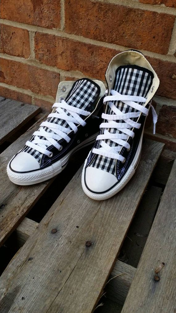 Check out this item in my Etsy shop https://www.etsy.com/listing/211197185/custom-checker-print-converse