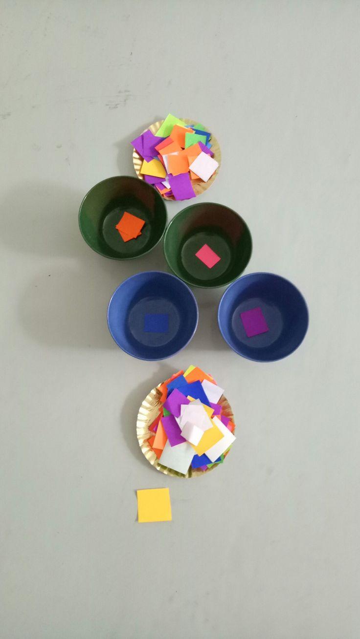 Colors sorting activities #school #activities #islamic #kindergarten #alhaamidiyah #southjakarta #indonesia