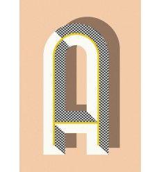 Lámina Bau Deco Ferm Living Poster 29,7 x 42 cm