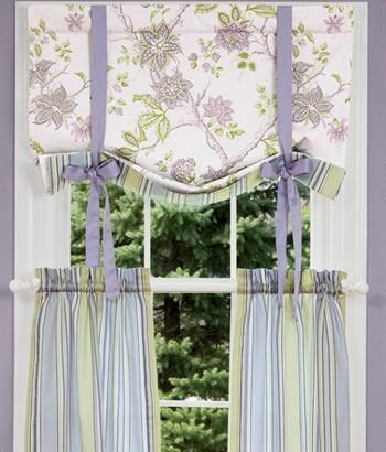 Sweetwater Floral Lined Tie Up Valance Country Curtains